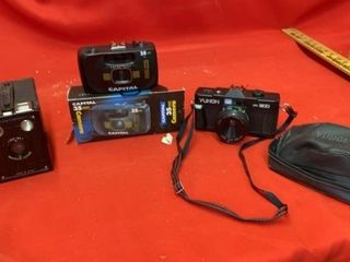 3 CAMERAS  BROWNIE JUMIOR  CAPITAl 35MM AND