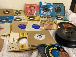 BOX OF 45 VINTAGE RECORDS