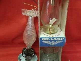 EARlY AMERICAN OIl lAMP  lIGHT FIXTURE  CANDlE