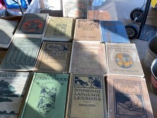 13 ElEMENTARY SCHOOl BOOKS FROM THE EARlY 1900IJS