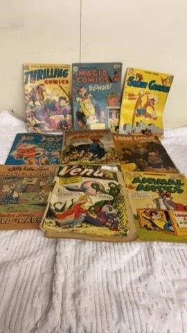 9 VINTAGE COMIC BOOKS