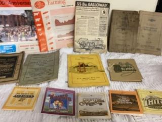 VINTAGE CAR CARE AND TRACTOR BOOKS AND OTHERS