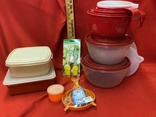 TUPPERWARE AND OTHER STORAGE CONTAINERS  AND MISC