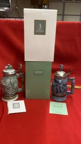 2 NEW AVON STEINS  CHRISTOPHER COlUMBUS AND
