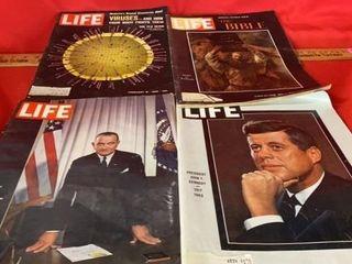 4 VINTAGE lIFE MAGAZINES