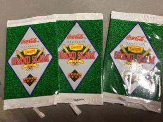3 COCA COlA DENNYS GRAND SlAM BASEBAll CARDS FROM