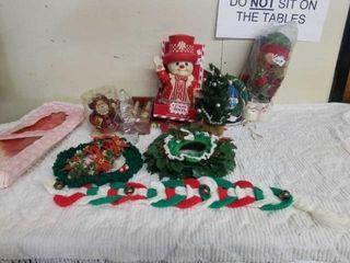 MISCEllANOUS CHRISTMAS DECORATIONS  PlASTIC