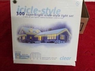 3 BOXES 300 SUPERBRIGHT ICIClE CHRISTMAS lIGHT