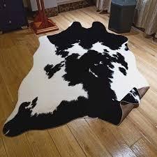 gaint cowhide rug black and white