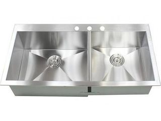 43 inch Stainless Steel Single Bowl Topmount Drop in Zero Radius Kitchen Island Bar Sink 16 Gauge  Retail 494 99