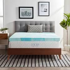 lUCID Comfort Collection Gel Swirl Memory Foam Topper   Blue  Retail 102 99 twin xl