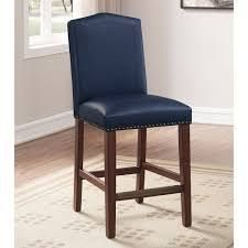 Claren leather Counter Stool by Greyson living  Retail 132 49 navy blue