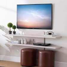 Carson Carrington Rydstorp Floating Wall mounted Media Console Shelves  Retail 134 99 white oak