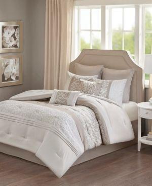510 Design lynda Embroidered 8 Piece Comforter Set  Retail 85 34