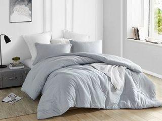 Natural loft Oversized Comforter   Yarn Dyed Blue  Retail 106 49