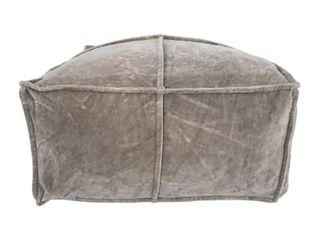 Square Cotton Velvet Pouf  Retail 122 49