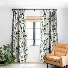 Holli Zollinger Olive Bloom Blackout Curtain Panel  Retail 75 48