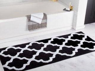 Windsor Home 100  Cotton Trellis Bathroom Runner   24x60 inches