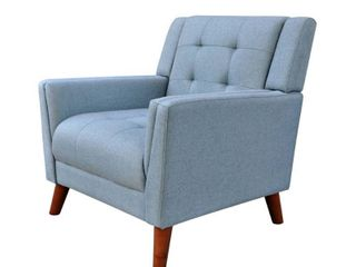Candace Mid Century Modern Fabric Arm Chair by Christopher Knight Home  Retail 241 49 blue