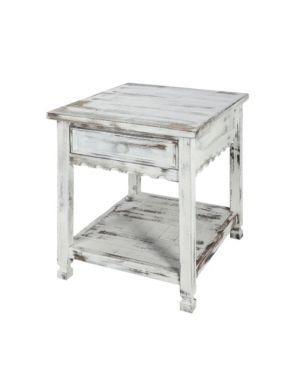 White Alaterre Country Cottage End Table Retail  218 43