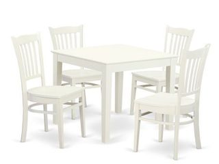 oxford kitchen chairs only set of 2 White
