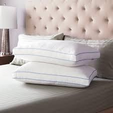 swisslux set of 2 extra firm density gusseted pillows