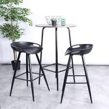 Silver Orchid Melies Fixed Height Bar Stool  Set of 2  Retail 128 99 black