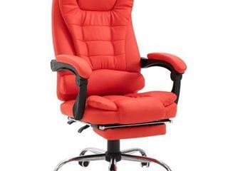 homcom reclining pu leather executive Red  Retail 171 49