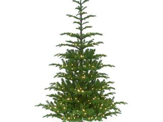 Null 7 5 ft  Norwegian Spruce Tree with Clear lights 7 5  Retail  324 99