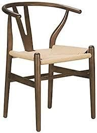 Poly and Bark Weave Chair  Set of 2  Retail 296 49 Walnut