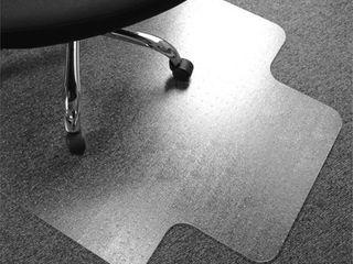 Clear   Modern   Contemporary   Vinyl Plastic   Chair Mat   New  Retail 78 98