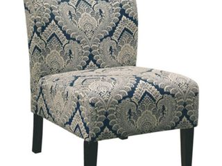 Honnally Contemporary Patterned Sapphire Accent Chair   Retail 129 49