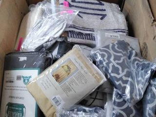 box of variety of curtains