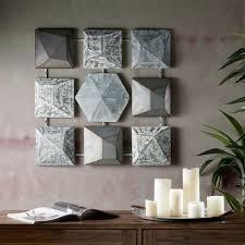 Carbon loft Grey Metal Wall Decor