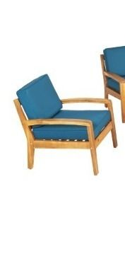 Grenada Outdoor Wood Chat Chair 1 only teak finish