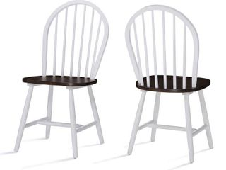 Countryside High Back Spindle Wood Dining Chair  Set of 2  by Christopher Knight Home  Retail 132 49