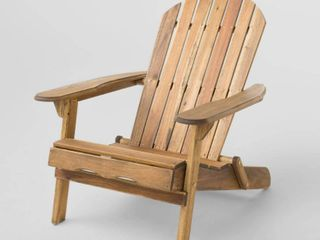 Hanlee Rustic Acacia Wood Folding Adirondack Chair by Christopher Knight Home  Retail 147 49 natural stained