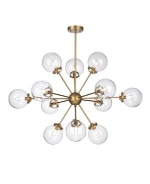 Masakee 12 light Gold Sputnik Chandelier with Glass Sphere Shades  Retail 259 99