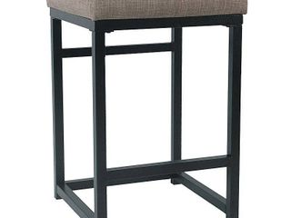 HomePop Open Back Metal 24  Counter Stool   24 inches brown