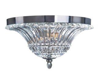 Elegant Designs 2 light Glass Ceiling light Glacier Petal Flushmount