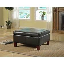 Copper Grove Silene luxury large Black Faux leather Storage Ottoman Table  Retail 121 99