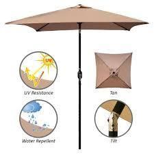 maypex square market umbrella tan