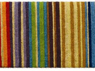 Hand woven Extra thick Rainbow Coir Doormat