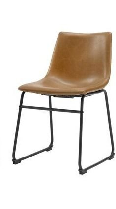 Faux leather Dining Chair   Whiskey Brown ONE CHAIR ONlY