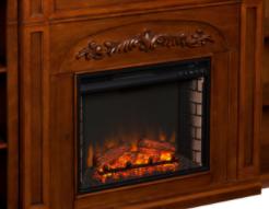 Gracewood Hollow Electric Fireplace Brick Accent Firebox