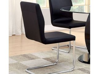 Furniture Of America lodia I Black leatherette Upholstered Side Chair Set Of 2