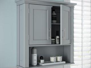 RiverRidge Somerset Collection Two Door Wall Cabinet  Gray  Retail 81 99