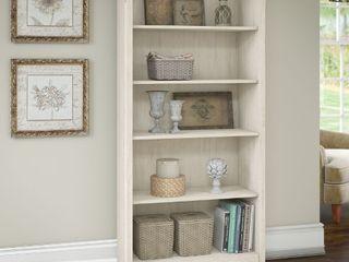 Salinas 5 Shelf Bookcase Gray   Bush Furniture