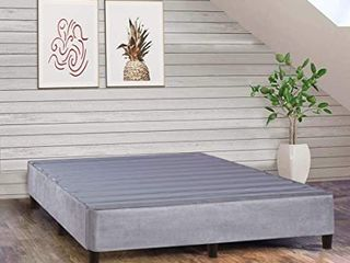ONETON 13 Inch King Platform Bed For Mattress  Eliminate Need For Box Spring And Frame  Grey  Retail 203 99