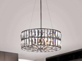 Justina 4 light Antique Black Crystal Glass Prism Chandelier  Retail 168 99